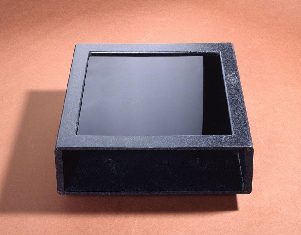 Bijzettafel met glas, Proper collectie Blackline