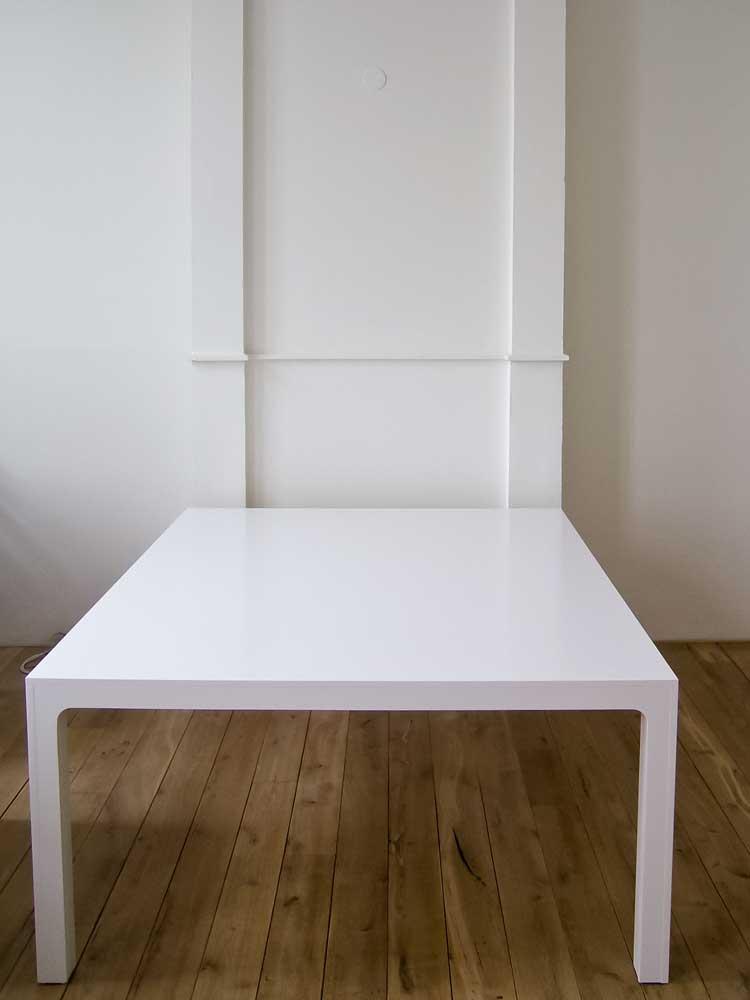 Witte vergadertafels